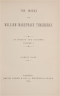 Books:Fine Bindings & Library Sets, William Makepeace Thackeray. The Works of William Makepeace Thackeray. London: Smith, Elder & Co., 1869-1886. Comple... (Total: 24 Items)