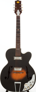 Musical Instruments:Electric Guitars, 1960s Lafayette Sunburst Archtop Electric Guitar. ...