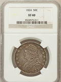 Bust Half Dollars: , 1824 50C XF40 NGC. NGC Census: (64/716). PCGS Population (87/709).Mintage: 3,504,954. Numismedia Wsl. Price for problem fr...