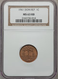 Dominican Republic, Dominican Republic: Republic Certified Five Coin Type Set 1961,...(Total: 5 coins)