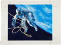 "Explorers:Space Exploration, Gemini 4: Chris Calle Original Painting of ""First American Walk in Space"". ..."