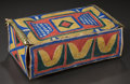 American Indian Art, A SIOUX PAINTED PARFLECHE CASE. c. 1890...