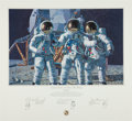 "Explorers:Space Exploration, Alan Bean Large Limited Edition ""Conrad, Gordon, and Bean: TheFantasy"" Lithograph Signed by all Three. ..."