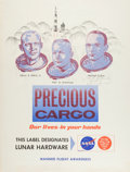 Explorers:Space Exploration, Apollo 11 Manned Flight Awareness Poster Signed by Michael Collins....