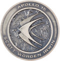 Explorers:Space Exploration, Apollo 15 Flown Silver Robbins Medallion, Serial Number 100....