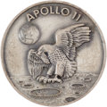 Explorers:Space Exploration, Apollo 11 Flown Silver Robbins Medallion. Serial Number 287....