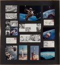 Explorers:Space Exploration, Mercury & Gemini Programs: Large Framed Display with Photos andSigned Items. ...