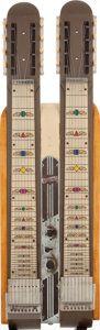 Musical Instruments:Lap Steel Guitars, 1948 National Grand Console Brown Double Neck Lap Steel Guitar,Serial # V11749. ...
