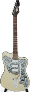 Musical Instruments:Electric Guitars, 2010 Italia Modena Silver Sparkle Solid Body Electric Guitar. ...