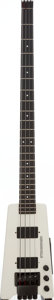 Musical Instruments:Bass Guitars, 1988 Steinberger XL-2 White Electric Bass Guitar, Serial # 4615....