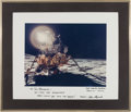 Autographs:Celebrities, Alan Shepard Large Color Apollo 14 Lunar Surface Photo Signed onthe Mat. ...