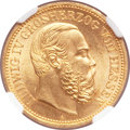 German States:Hesse-Darmstadt, German States: Hesse-Darmstadt. Ludwig IV gold 20 Mark 1892-A,...
