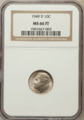 Roosevelt Dimes, 1949-D 10C MS66 Full Torch NGC. NGC Census: (131/48). PCGSPopulation (306/83). Mintage: 26,034,000. Numismedia Wsl. Price ...