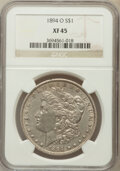 Morgan Dollars: , 1894-O $1 XF45 NGC. NGC Census: (401/2940). PCGS Population(589/2997). Mintage: 1,723,000. Numismedia Wsl. Price for probl...