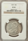 Bust Half Dollars, 1829 50C Small Letters XF45 NGC. NGC Census: (148/814). PCGSPopulation (231/835). Mintage: 3,712,156. Numismedia Wsl. Pric...