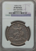 Trade Dollars: , 1878-S T$1 -- Obv Graffiti -- NGC Details. XF. NGC Census:(50/684). PCGS Population (94/930). Mintage: 4,162,000. Numismed...