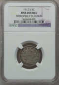 Liberty Nickels: , 1912-S 5C -- Improperly Cleaned -- NGC Details. F. NGC Census:(181/594). PCGS Population (312/1032). Mintage: 238,000. Num...