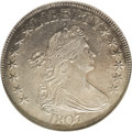 Early Half Dollars: , 1807 50C Draped Bust MS60 NGC. O-105, R.2. A die lump betweenSTATES and OF helps to quickly identify this die pairing. Nic...