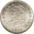 Bust Half Dollars: , 1809 50C MS61 NGC. O-103, R.1. Gentle tan-gray toning graces thislustrous and boldly struck Bust half dollar. Void of rele...