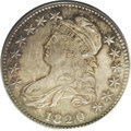 Bust Half Dollars: , 1820 50C Curl Base 2, Small Date MS62 PCGS. O-103, R.1. The 2 has asmall curled base and a curled top. The 0 is large. On ...