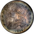 Bust Half Dollars: , 1834 50C Small Date, Small Letters MS66 NGC. O-121, R.3. Overton's 'Stair Step' date, which has a high 8 and low 3, paired ...