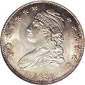 Bust Half Dollars: , 1835 50C MS65 NGC. O-103, R.2. A blatantly original Gem specimen. Both sides exhibit a brilliant center that is bordered wi...