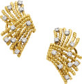 Estate Jewelry:Earrings, Diamond, Platinum, Gold Earrings, Schlumberger for Tiffany &Co.. ...