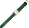 Luxury Accessories:Accessories, Hermes Gold H-Hour MM Watch with Vert Clair Epsom Leather Strap. ...