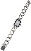 Luxury Accessories:Accessories, Chanel Premiere Ladies Watch with Stainless Steel Chain Strap. ...