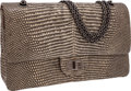 Luxury Accessories:Bags, Chanel Natural Lizard Jumbo Double Flap Bag with Gunmetal Hardware....