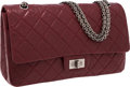 Luxury Accessories:Bags, Chanel Bordeaux Lambskin Leather Jumbo Double Flap Bag withGunmetal Hardware. ...