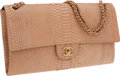 Luxury Accessories:Bags, Chanel Beige Python Maxi Single Flap Bag with Burnished GoldHardware. ...