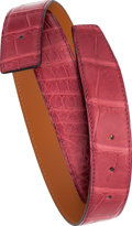 Luxury Accessories:Accessories, Hermes 85cm Matte Bois de Rose Alligator Belt Strap. ...