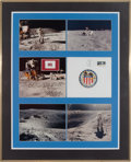 Explorers:Space Exploration, Apollo 16 Lunar Module Flown LM Netting Segment in Framed Display....