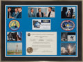 Explorers:Space Exploration, Space Shuttle Atlantis (STS-71) Flown Tiffany Money ClipFramed Display Presentation Celebrating Jay Barbree's Cov...