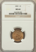 Indian Cents, 1859 1C MS64 NGC....