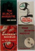Books:Mystery & Detective Fiction, Ben Benson. Four First Editions. Mill-Morrow, 1955-1959.Publisher's binding and dust jackets. Very good or better....(Total: 4 Items)