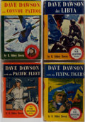 Books:Mystery & Detective Fiction, R. Sidney Bowen. Four Dave Dawson First Editions. Saalfield andCrown. Publisher's bindings and dust jackets. Very good or b...(Total: 4 Items)