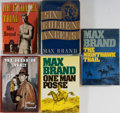 Books:Mystery & Detective Fiction, Max Brand. Five Novels. Dodd, Mead (four) and St. Martin's Press (one). Publisher's bindings and dust jackets. Good or bette... (Total: 5 Items)
