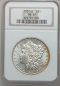 Morgan Dollars: , 1887/6 $1 MS64 NGC. NGC Census: (226/89). PCGS Population(354/151). Numismedia Wsl. Price for problem free NGC/PCGS coin ...
