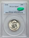 Washington Quarters: , 1948 25C MS67 PCGS. CAC. PCGS Population (72/1). NGC Census:(296/1). Mintage: 35,196,000. Numismedia Wsl. Price for proble...