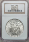 Morgan Dollars: , 1899 $1 MS65 NGC. NGC Census: (591/80). PCGS Population (1086/213).Mintage: 330,846. Numismedia Wsl. Price for problem fre...