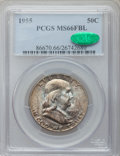 Franklin Half Dollars: , 1955 50C MS66 Full Bell Lines PCGS. CAC. PCGS Population (137/1).Numismedia Wsl. Price for problem fre...