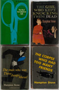 Books:Mystery & Detective Fiction, Hampton Stone. Four First Editions, First Printings. Simon &Schuster / Inner Sanctum, 1953-1964. Publisher's bindings and d...(Total: 4 Items)