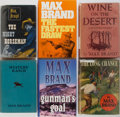 Books:Mystery & Detective Fiction, Max Brand. Six Western Novels. Dodd, Mead (five) and Five Star(one). Publisher's bindings and dust jackets (all but one). G...(Total: 6 Items)