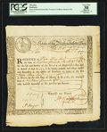 Colonial Notes:Massachusetts, Massachusetts Bay State Treasury Certificate December 1, 1777Anderson MA-10 PCGS Apparent Very Fine 30.. ...
