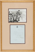 Autographs:Non-American, Bernard Montgomery Typed Letter Signed with Signed Photograph....