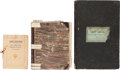 Autographs:Military Figures, [Slavery]. Thomas S. Falconer Plantation Account Ledger Book with Journal of Slave Financial Accounts and Family Records.... (Total: 4 Items)
