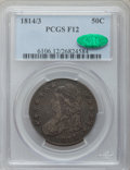 Bust Half Dollars: , 1814/3 50C Fine 12 PCGS. CAC. PCGS Population (9/167). NGC Census:(2/434). Numismedia Wsl. Price for problem free NGC/PCG...
