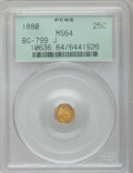 California Fractional Gold: , 1880 25C Indian Octagonal 25 Cents, BG-799J, R.3, MS64 PCGS. PCGSPopulation (41/43). NGC Census: (5/10). ...